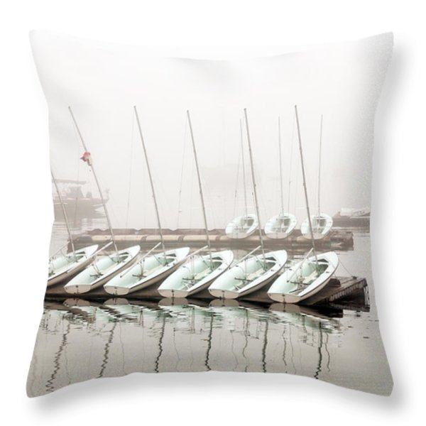 Fogged In Throw Pillow by Bob Orsillo