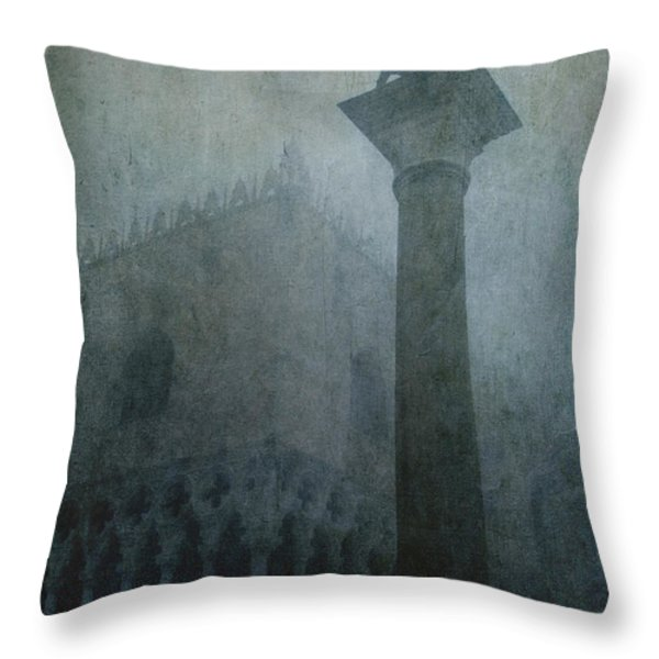 Foggy Morning Throw Pillow by Marion Galt
