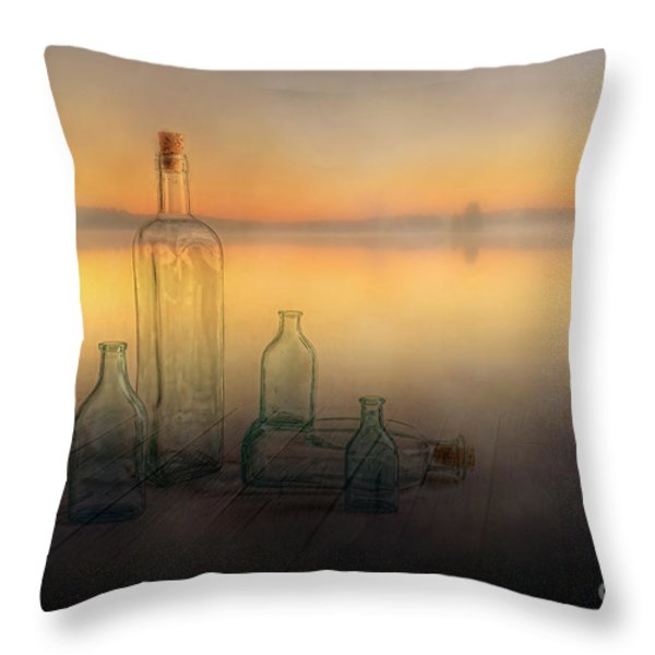 Foggy Morning Throw Pillow by Veikko Suikkanen