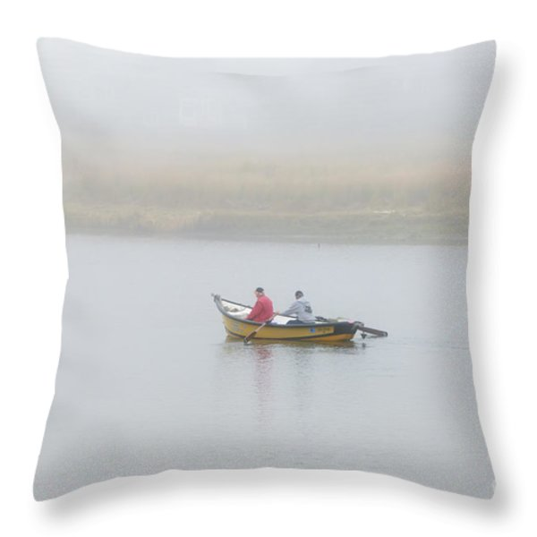 Foggy Nestucca Throw Pillow by Mike  Dawson