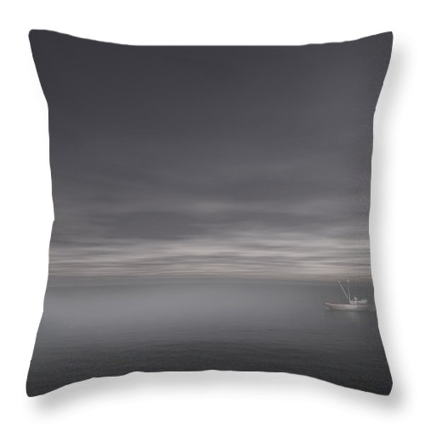 Foggy Stillness Throw Pillow by Lourry Legarde