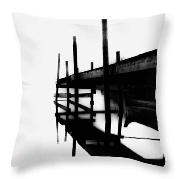 Foggy View Throw Pillow by Erik Brede