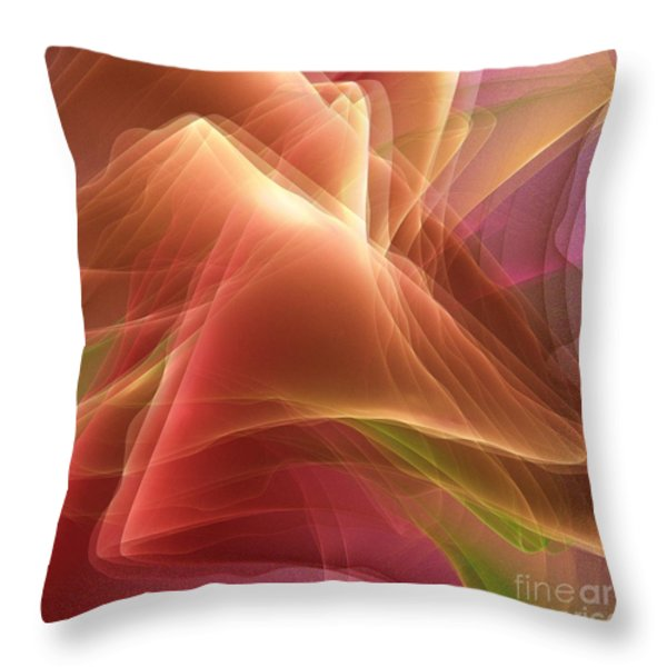 Folding Echoes   Throw Pillow by Elizabeth McTaggart