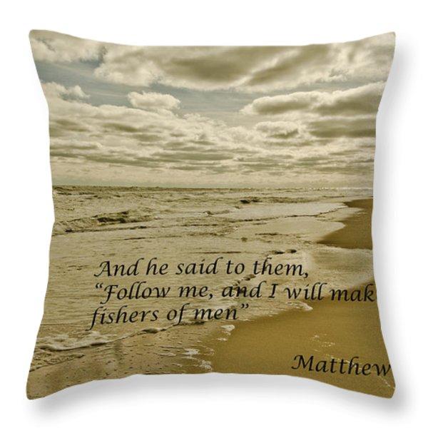 Follow Me Throw Pillow by Debra Johnson