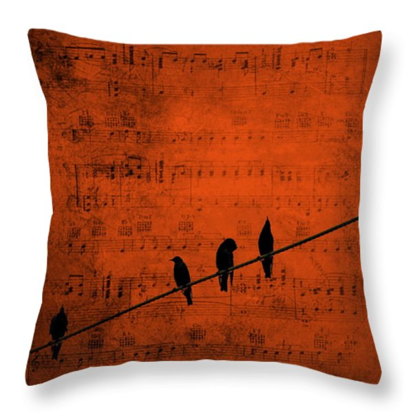 Follow The Music Throw Pillow by Andrea Kollo