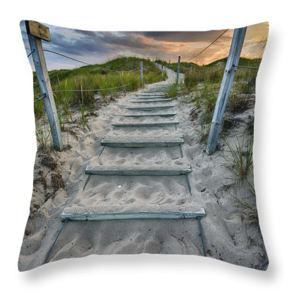 Follow The Path Throw Pillow by Sebastian Musial