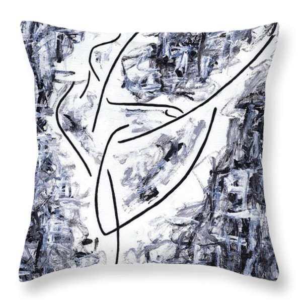 Following Her Passion Throw Pillow by Kamil Swiatek