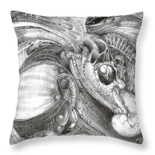 Fomorii Aliens Throw Pillow by Otto Rapp