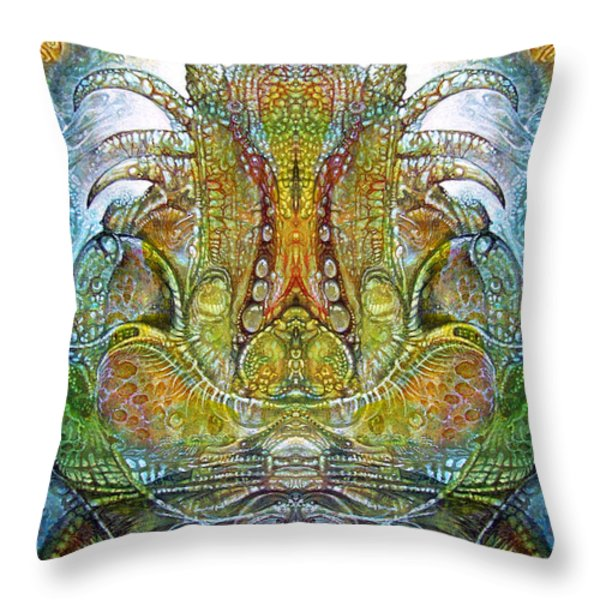 Fomorii Throne Throw Pillow by Otto Rapp