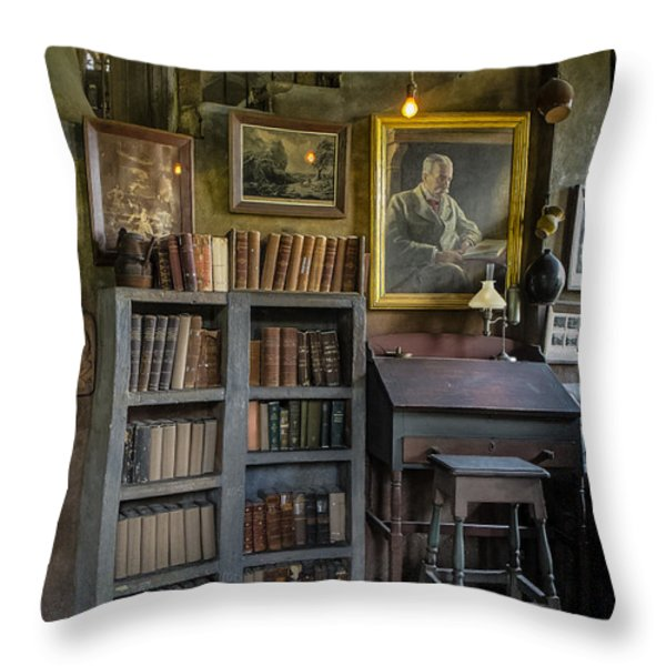 Fonthill Castle Saloon Throw Pillow by Susan Candelario