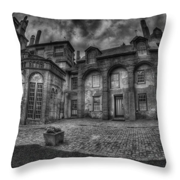 Fonthill Castle  Throw Pillow by Susan Candelario