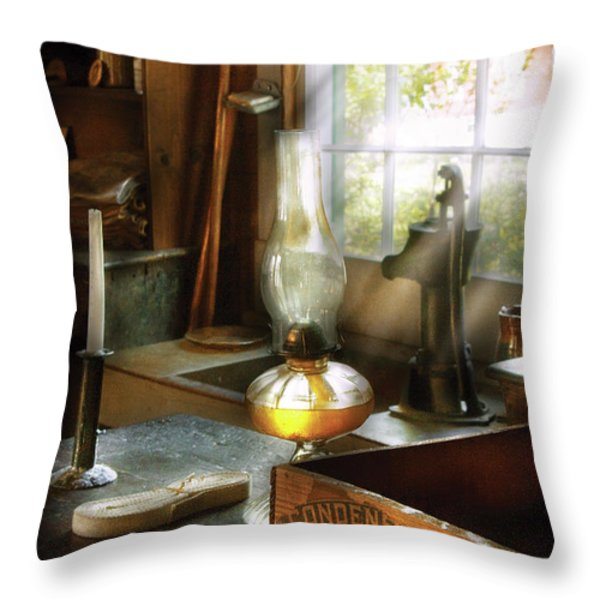 Food - Borden's Condensed Milk Throw Pillow by Mike Savad