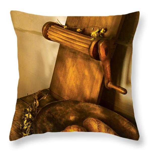 Food -  Bread  Throw Pillow by Mike Savad