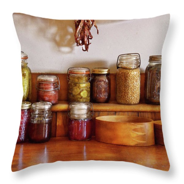 Food - I Love Preserving Things Throw Pillow by Mike Savad