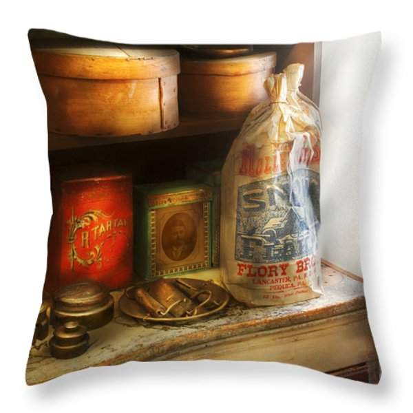Food - Kitchen Ingredients Throw Pillow by Mike Savad