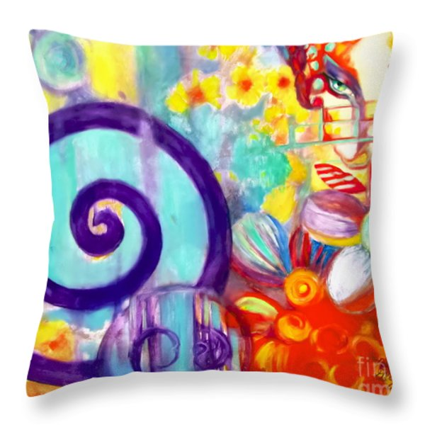 Food Of The Gods Throw Pillow by Rebecca Glaze