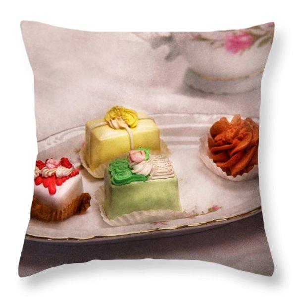 Food - Sweet - Cake - Grandma's treats  Throw Pillow by Mike Savad
