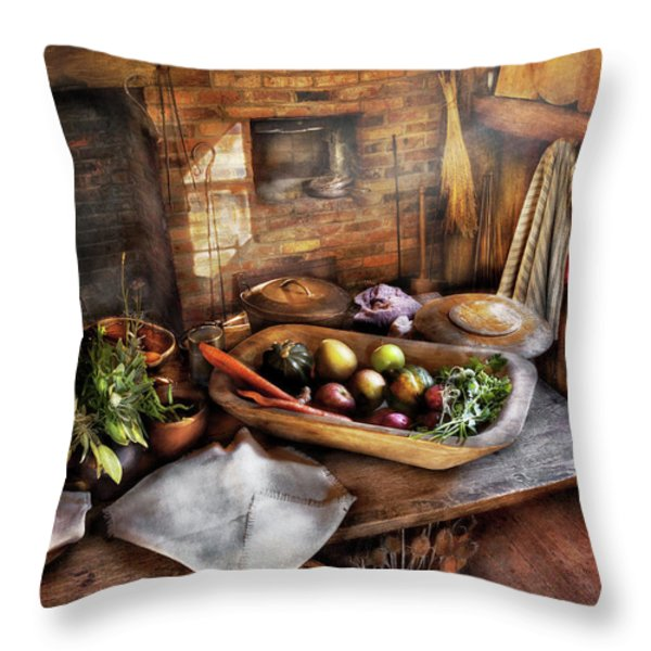Food - The start of a healthy meal  Throw Pillow by Mike Savad