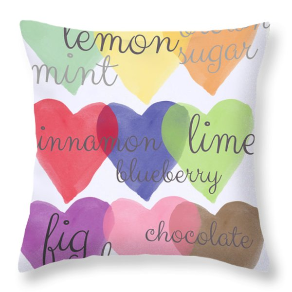 Foodie Love Throw Pillow by Linda Woods