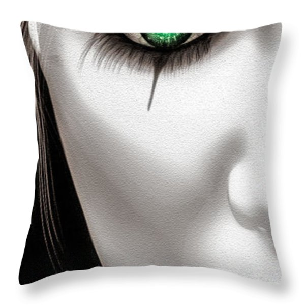 Fool Throw Pillow by Bob Orsillo