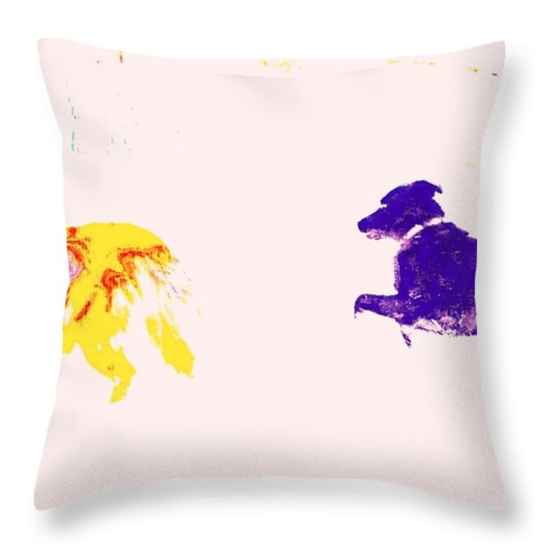 fooling around Throw Pillow by Hilde Widerberg