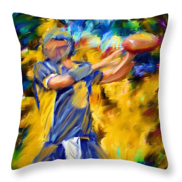 Football I Throw Pillow by Lourry Legarde
