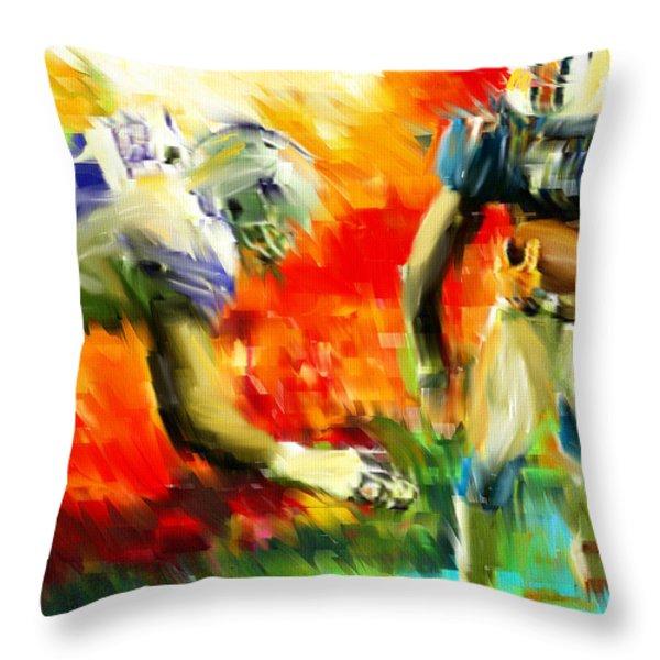 Football III Throw Pillow by Lourry Legarde