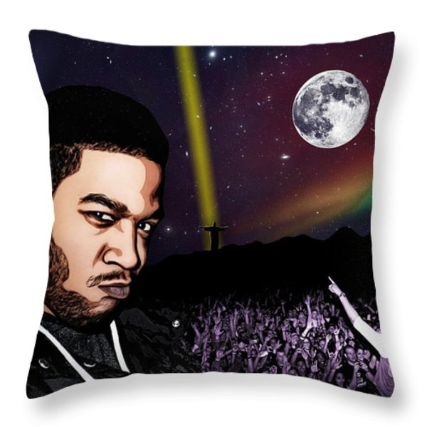 For even in hell - Kid Cudi Throw Pillow by Dancin Artworks