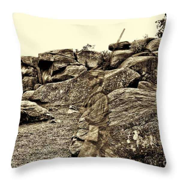 For Ever Watch At Devils Den Throw Pillow by Tommy Anderson