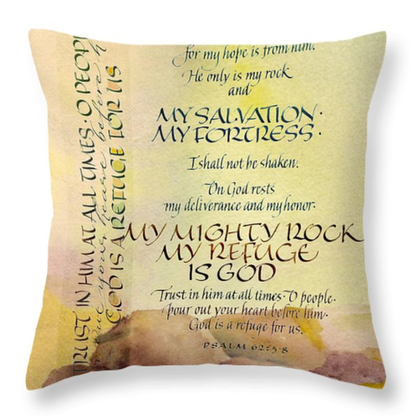 For God Alone IIi Throw Pillow by Judy Dodds