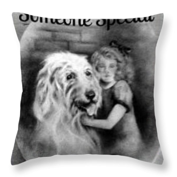 For Someone Special - Vintage Collection Throw Pillow by Beverly Pegasus
