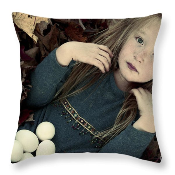 For The Love Of Birds Throw Pillow by Aimelle
