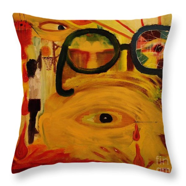 For The Love Of The Game Throw Pillow by Wayne Cantrell