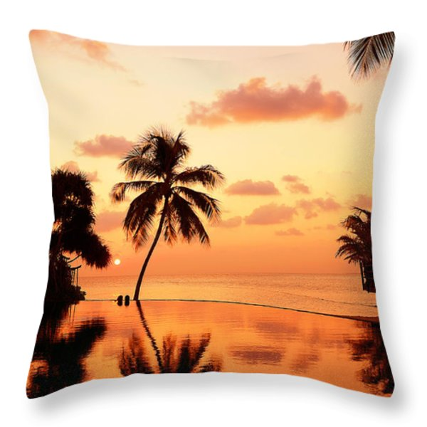 For YOU. Dream Comes True II. Maldives Throw Pillow by Jenny Rainbow