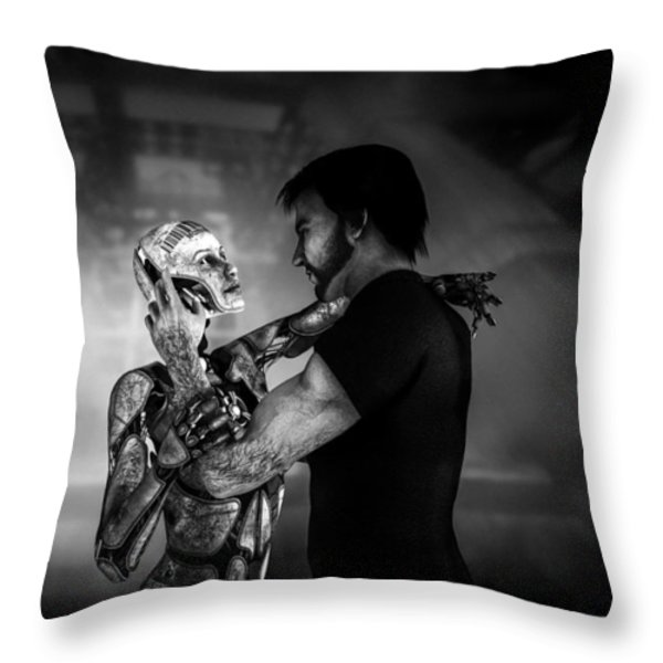 Forbidden Love Vanishing Memory Machine 2 Throw Pillow by Bob Orsillo