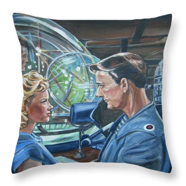 Forbidden Planet Throw Pillow by Bryan Bustard