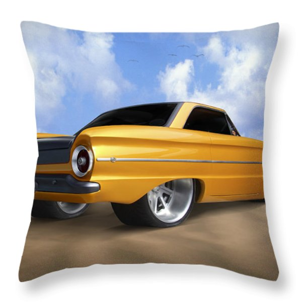 Ford Falcon Throw Pillow by Mike McGlothlen