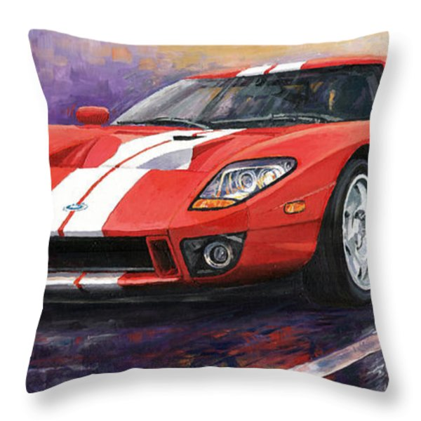 Ford Gt 2005 Throw Pillow by Yuriy  Shevchuk