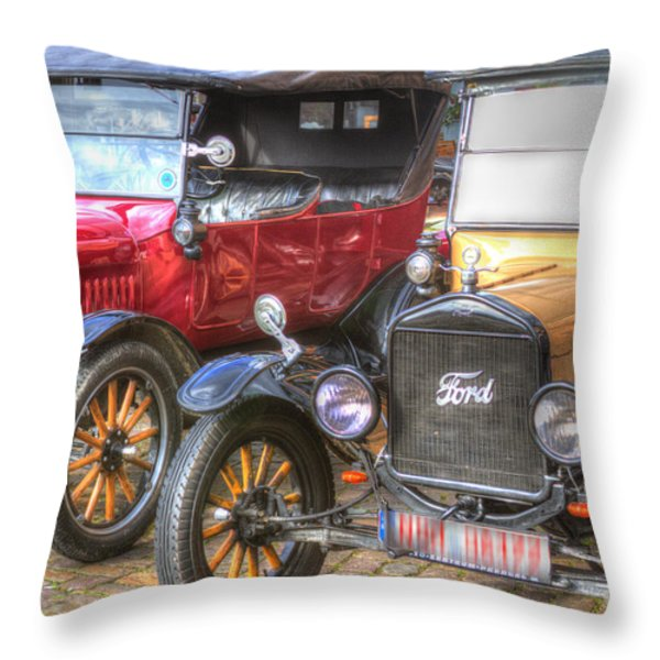Ford-t  Mobiles Of The 20th Throw Pillow by Heiko Koehrer-Wagner