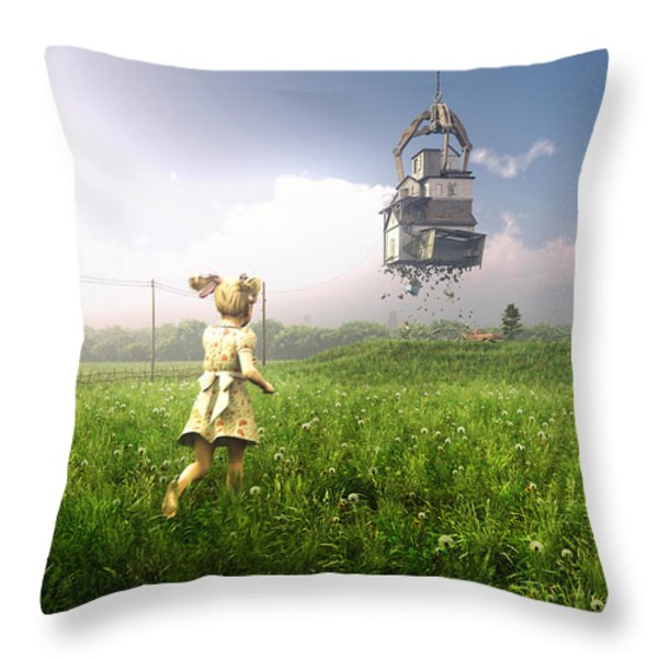 Foreclosure Throw Pillow by Cynthia Decker