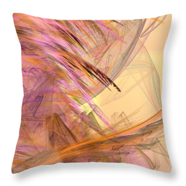 Forest of the Fairies Throw Pillow by Camille Lopez
