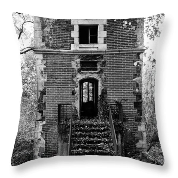 Forest Tower Throw Pillow by Nomad Art And  Design