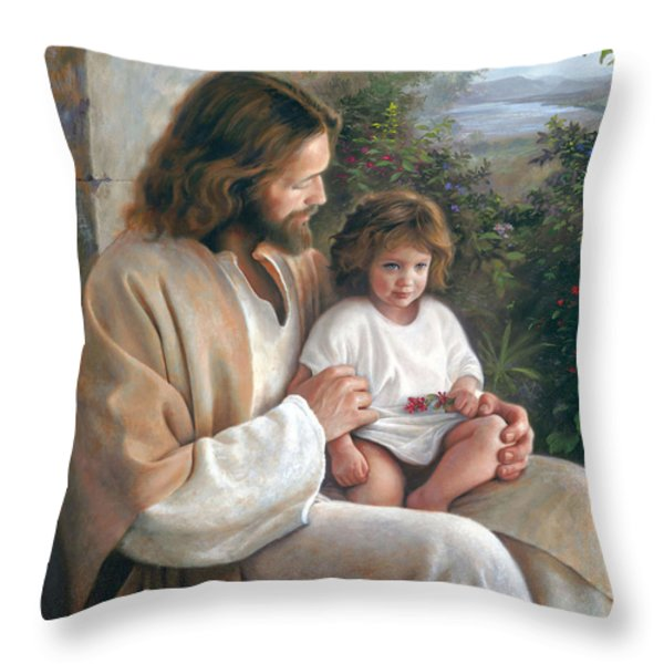 Forever and Ever Throw Pillow by Greg Olsen