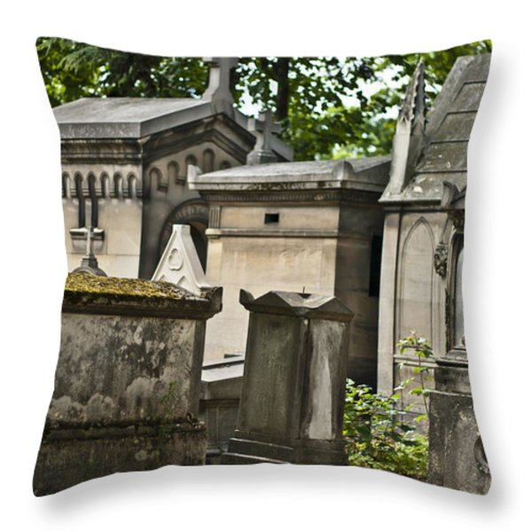 Forever In Paris Throw Pillow by Nomad Art And  Design