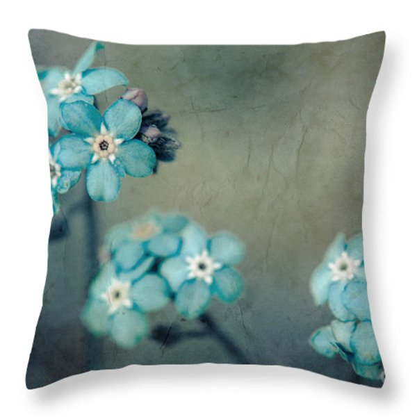 Forget Me Not 01 - s22dt06 Throw Pillow by Variance Collections