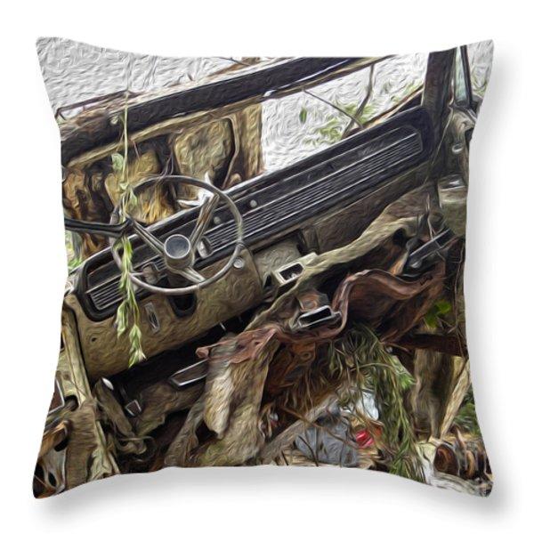 Forgotten Dash Throw Pillow by Crystal Harman