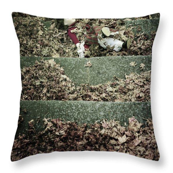 forgotten doll Throw Pillow by Joana Kruse