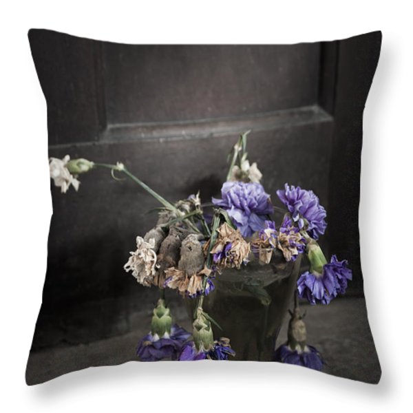 Forgotten Flowers Throw Pillow by Svetlana Sewell