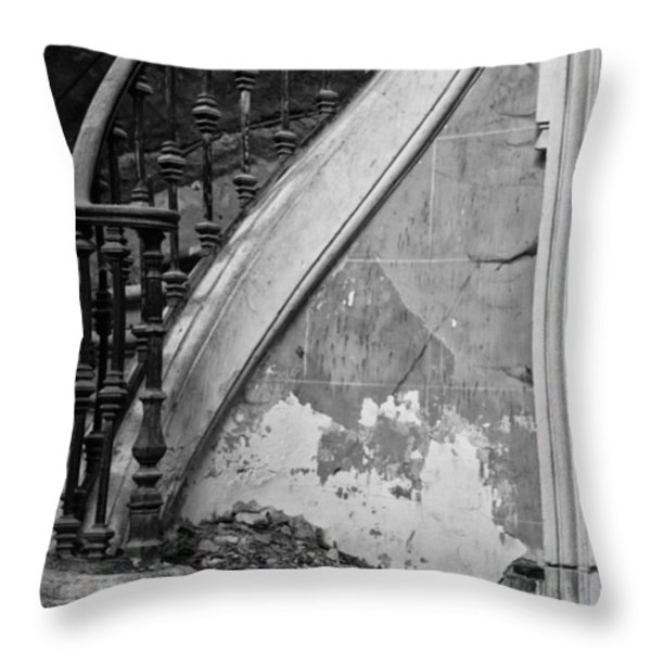 Forgotten Stairs Throw Pillow by Nomad Art And  Design