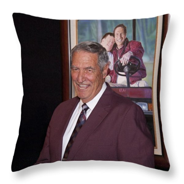 Former Coach of Alabama Gene Stallings Throw Pillow by Mountain Dreams